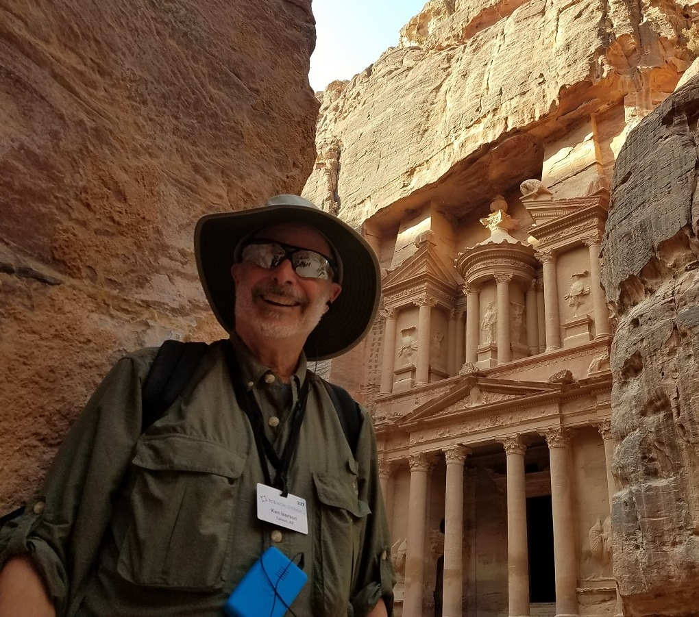 Ken Iserson at Nabataean temple