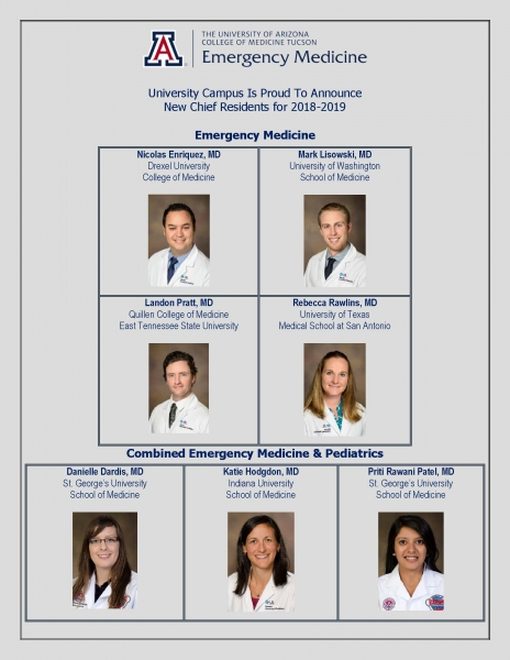 University Campus 2018-2019 Chief Residents | Department of